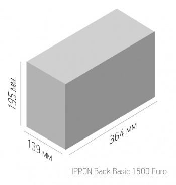 Ippon - Источник бесперебойного питания Линейно-интерактивный ИБП Back Basic 1500/2200 Euro