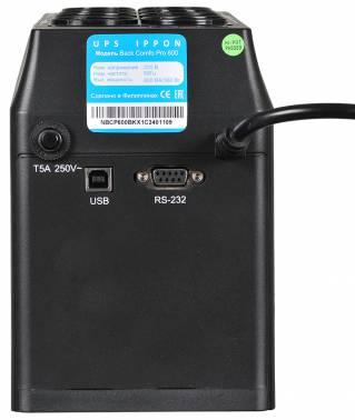 Ippon - Источник бесперебойного питания Линейно-интерактивный ИБП Back Comfo Pro 600/800/1000
