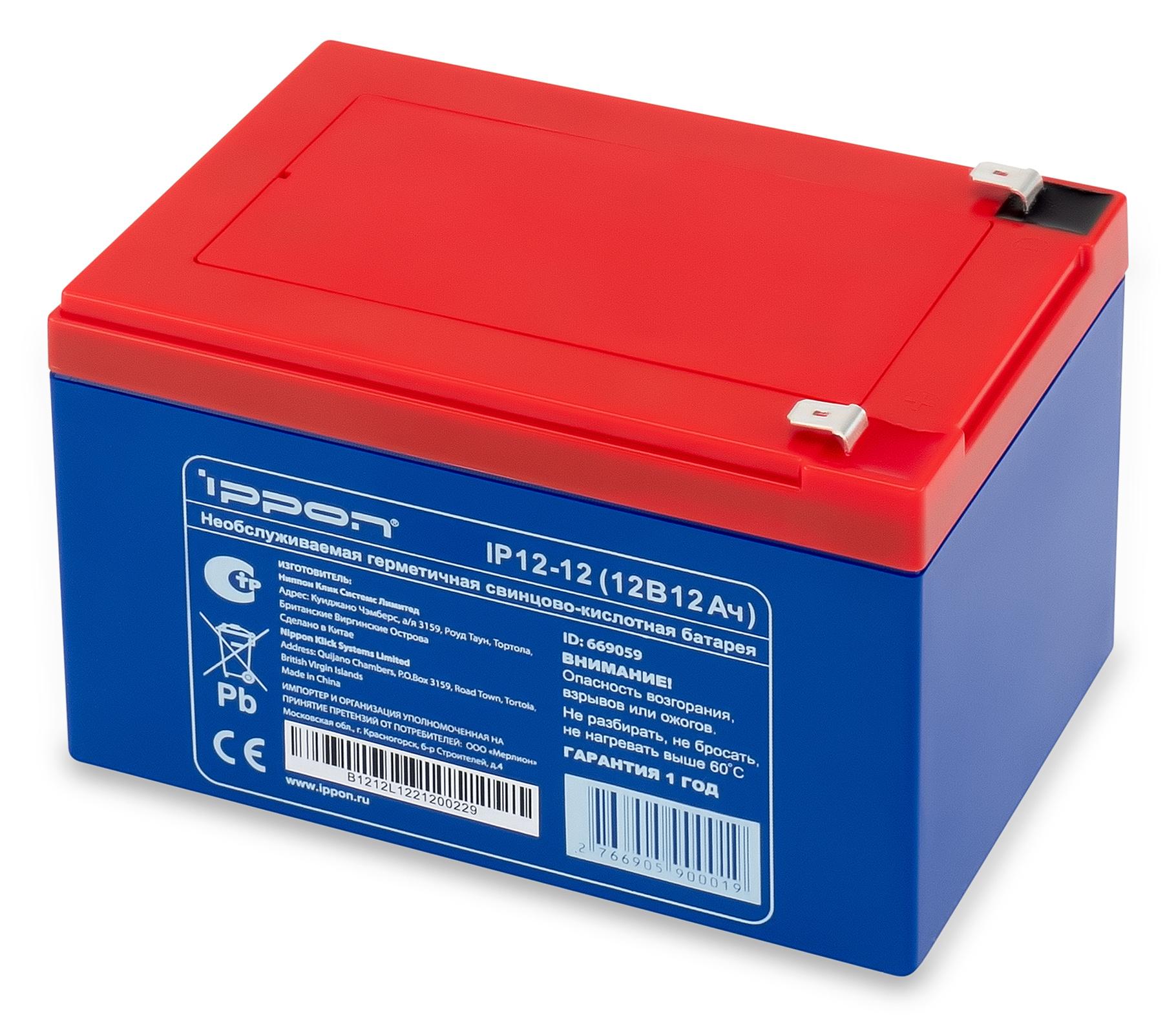 Ippon - Батарея для источников бесперебойного питания Аккумуляторная батарея IP 12-12